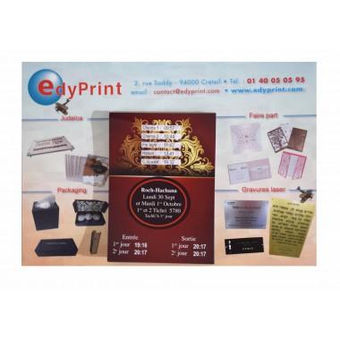 Calendrier Magnet feuille à feuille personnalisable