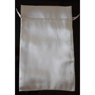 sac en satin métallisé grand format